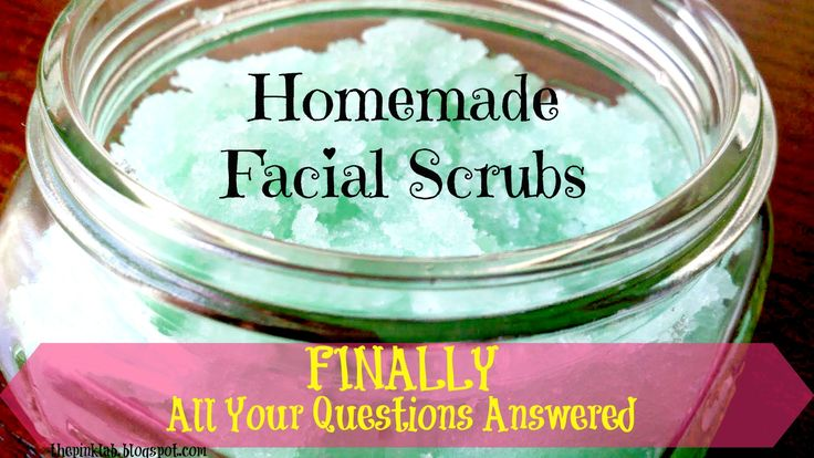 Finally-All your questions answered about the homemade facial scrubs!!