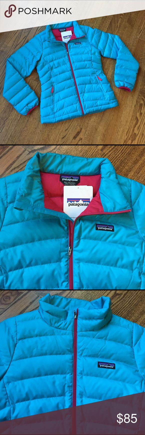 NWT Girls Patagonia down sweater jacket NWT Girls down sweater jacket by Patagonia. Size kids XL (14). Insulated with traceable down. Patagonia Jackets & Coats