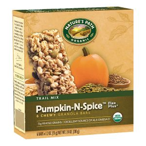 Pumpkin-N-Spice™ Flax Plus® Granola Bars | Nature's Path  (*has small amount of molasses at end of ingredient list, but should be tolerated by most)