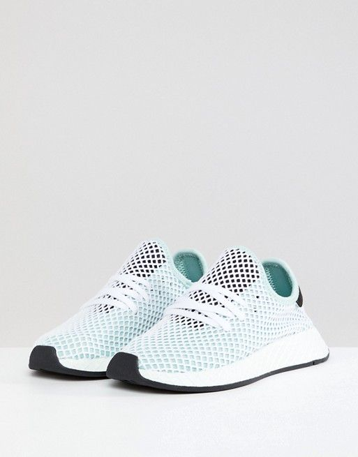9f683db237f adidas Originals Deerupt Runner Sneakers In Green