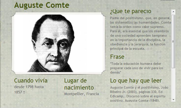 2. Comte...filosofia de la educacion...positivismo y educacion
