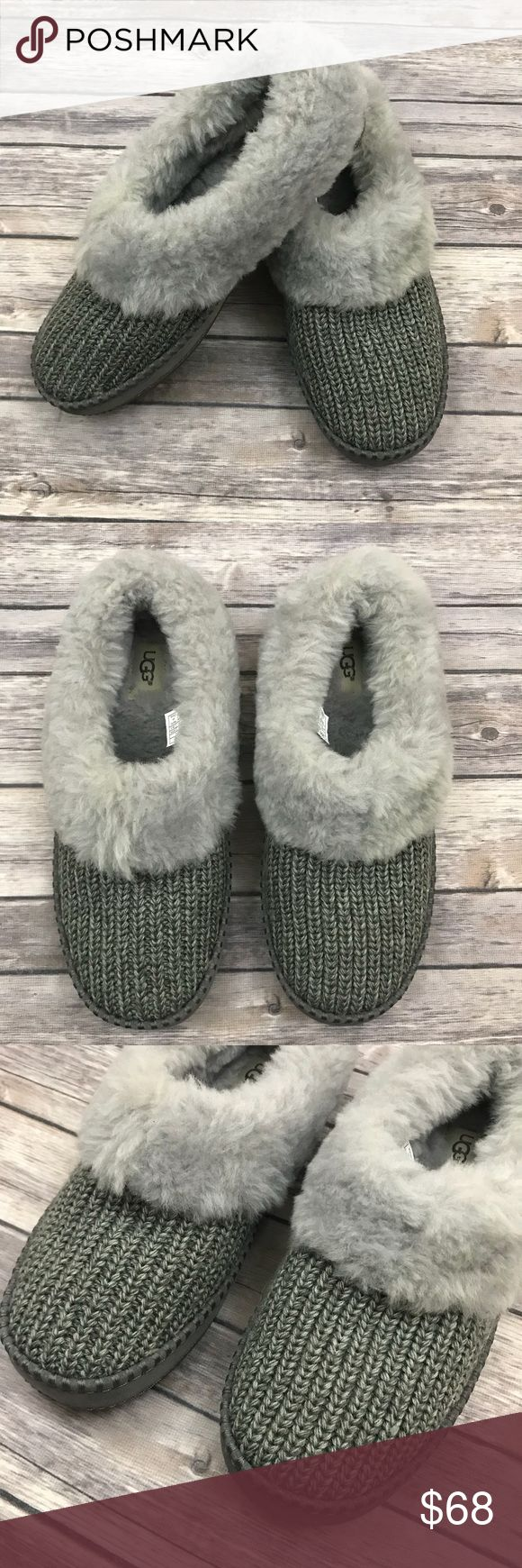 New Ugg Australia Wrin Rib-Knit Shearling Slippers Ugg Australia Wrin Rib-Knit & Genuine Shearling Slipper in Grey Suede •New without box •Size 10 •Retails for $119.95  Check out my other listings- Nike, adidas, Michael Kors, Hunter Boots, Kate Spade, Miss Me, Rock Revival, Coach, Wildfox, Victoria's Secret, PINK, True Religion, Ugg Australia, Free People and more! UGG Shoes Slippers
