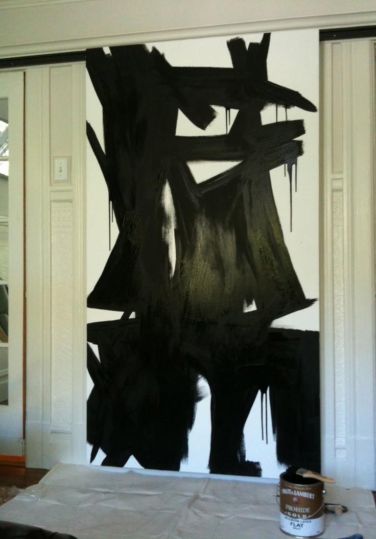 Grant k gibsons franz kline inspired painting love
