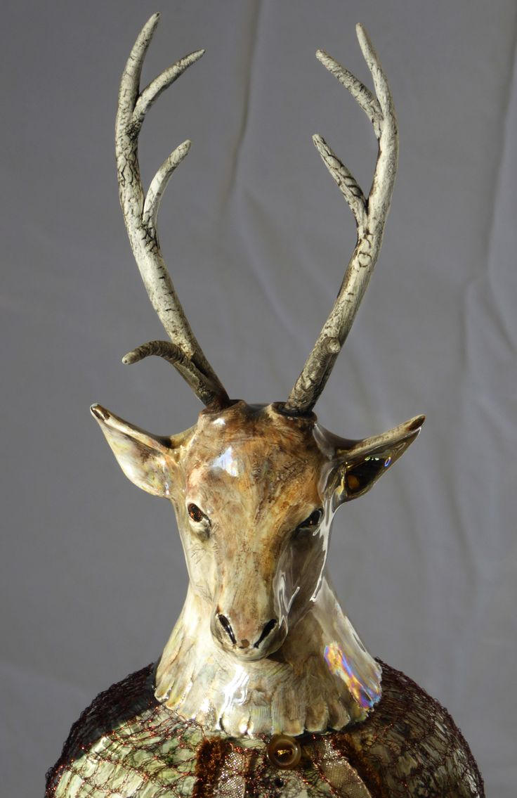 Trophies for the Afterlife 2014. Detail of deer's head. By Mrs Gardiner