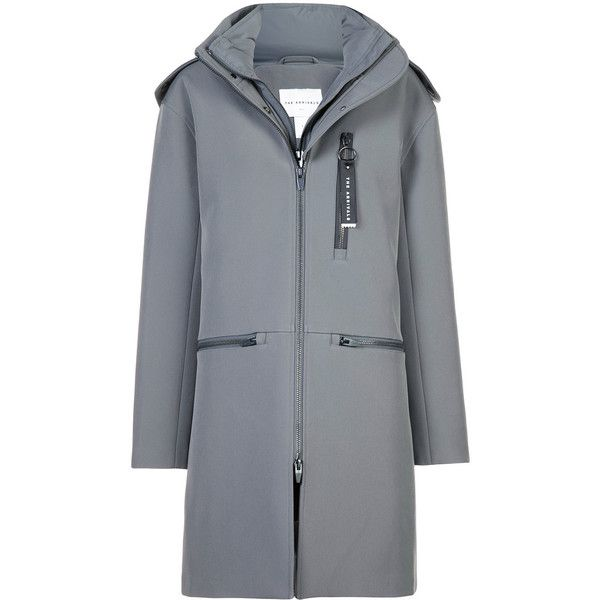 The Arrivals Halstrøm III parka coat (2.760 RON) ❤ liked on Polyvore featuring outerwear, coats, grey, insulated parka, grey parka coat, insulated coat, gray coats and weatherproof coat