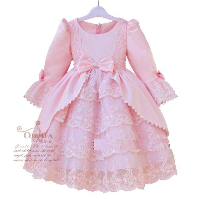 2012 hot flower girl dress nice party wear many layers well design with lovely flower in it nice princess dress 2-8Y free ship on AliExpress.com. $49.80