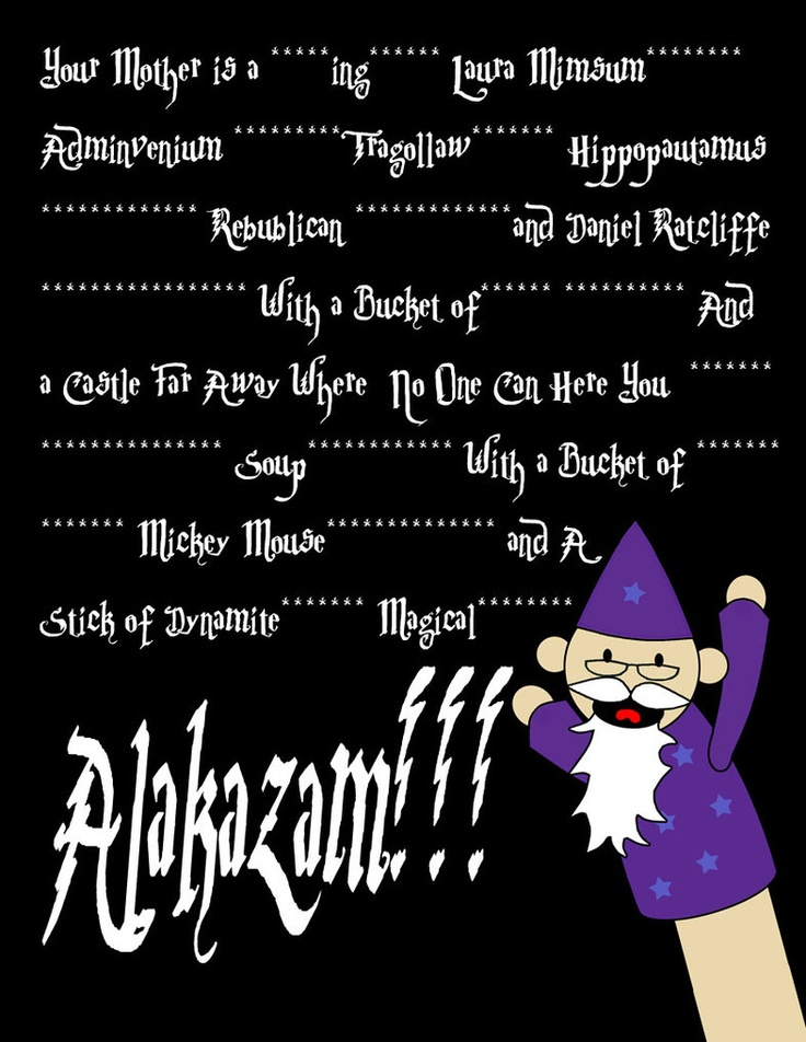 """Potter Puppet Pals! With some spelling errors...""""Laura Mimsum"""" is supposed to be """"Lorem Ipsum"""" I think, like the Latin text on old powerpoint templates. And it's """"Adminumvenium,"""" """"RePublican"""" and """"RaDcliffe."""" Other than that I love it!"""