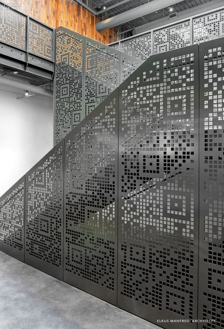 The stair s painted steel balustrades were also laser cut - Rejas para balcon ...