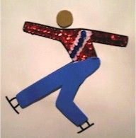 Winter Olympic Scrap Art Craft