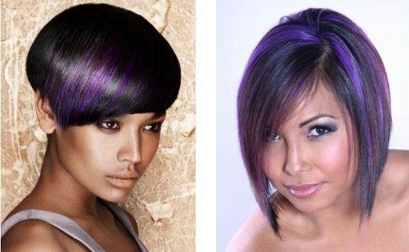 Dyes and hair color trends for winter 2012: Red and Purple