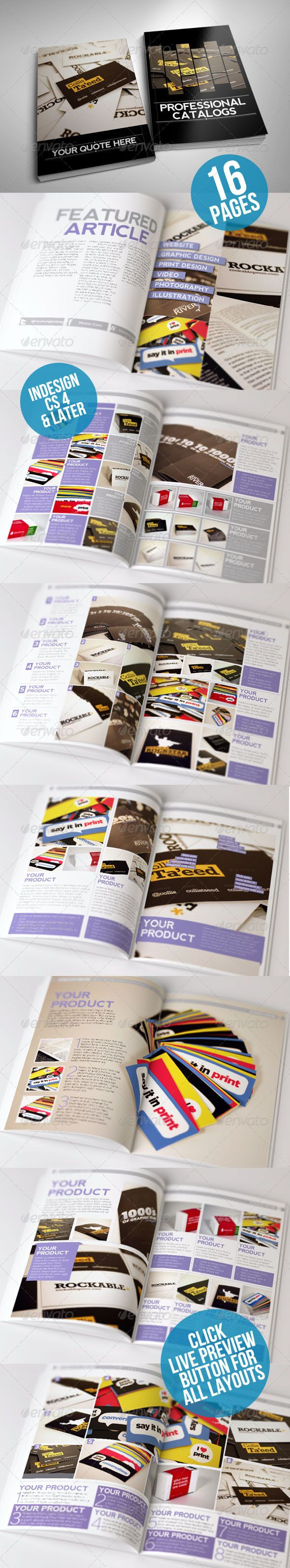 Clean And Modern Catalog Template 16 Page Template