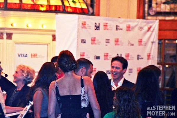 Stephen Moyer meets with fans outside the theatre at TIFF for his movie Devil's Knot.