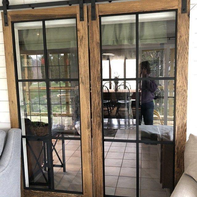 Beautiful Glass Barn Doors In 2020 Glass Barn Doors French Doors Exterior Sliding Doors Exterior