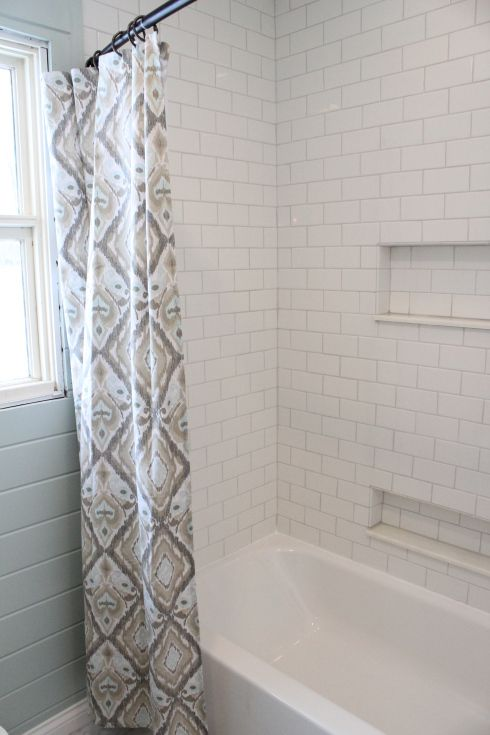 White Subway Tile Shower With Niches Home Style Pinterest