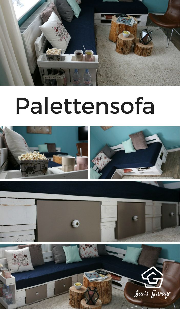 die besten 25 sofa aus paletten ideen auf pinterest sofa aus europaletten palettencouch und. Black Bedroom Furniture Sets. Home Design Ideas