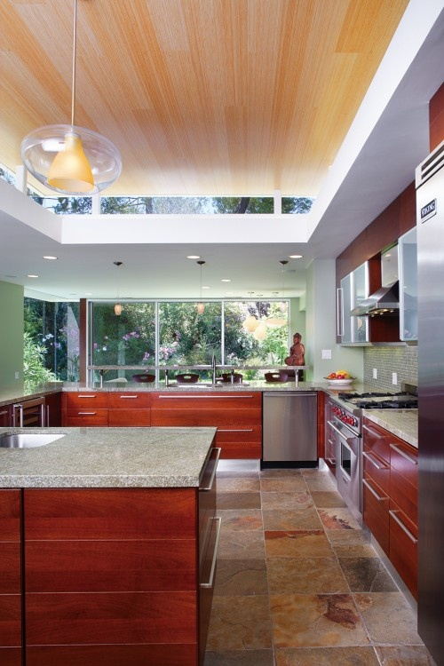 The clerestory windows & ceiling take this from a great kitchen to an incredible one.