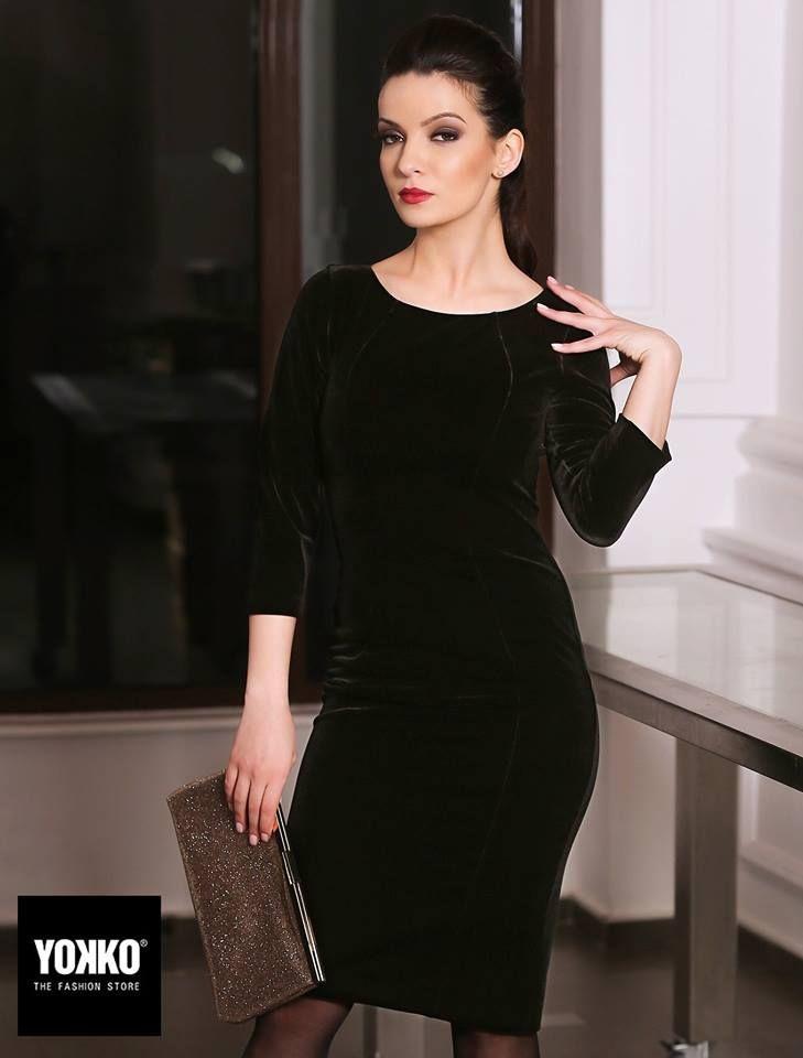 Velvet little black dress YOKKO |fall16 #velvet #lbd #dress #eveningoutfit #simple #yokko