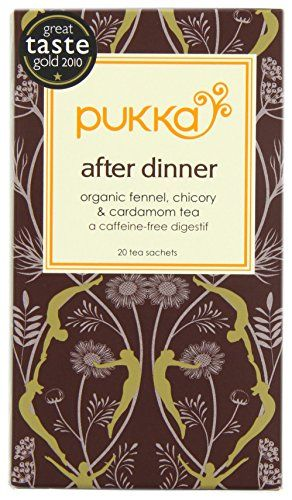 Pukka After Dinner Tea | Pukka Herbs | Organic | A unique blend of aromatic herbs that help soothe digestion a great alternative to coffee or mint tea after a meal. (Amazon.co.uk Affiliat Link)