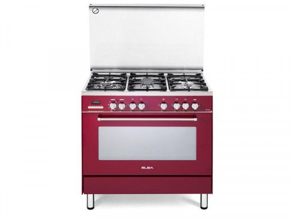 ELBA 5BURNER GAS OVEN RED MODEL - 01/9SEX988R | Your number one appliance store