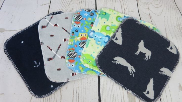 5 Pack of Double Layer Flannel Cloth Wipes by PennyandLuna on Etsy