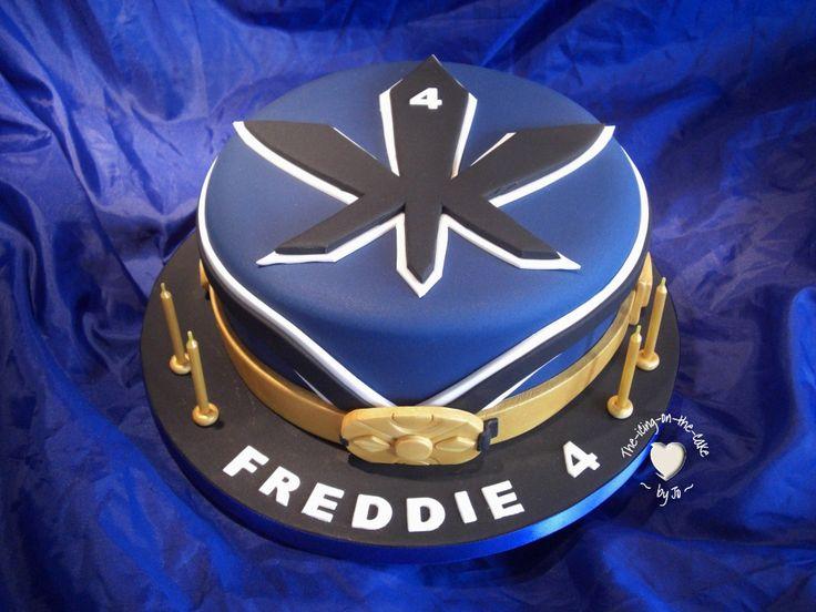 Power rangers samurai cake. Blue Ranger. I might make something like thing for my brother's birthday.