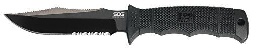 #4: SOG Specialty Knives & Tools E37TN-CP Seal Pup Elite Knife with Part-Serrated Fixed 4.85-Inch Steel Blade and GRN Handle Black TiNi Finish SOG Specialty Knives E37TN CP Part Serrated remains a top choice sitting right up there with the top selling products in Home Improvement  category in Canada. Click below to see its Availability and Price in YOUR country.