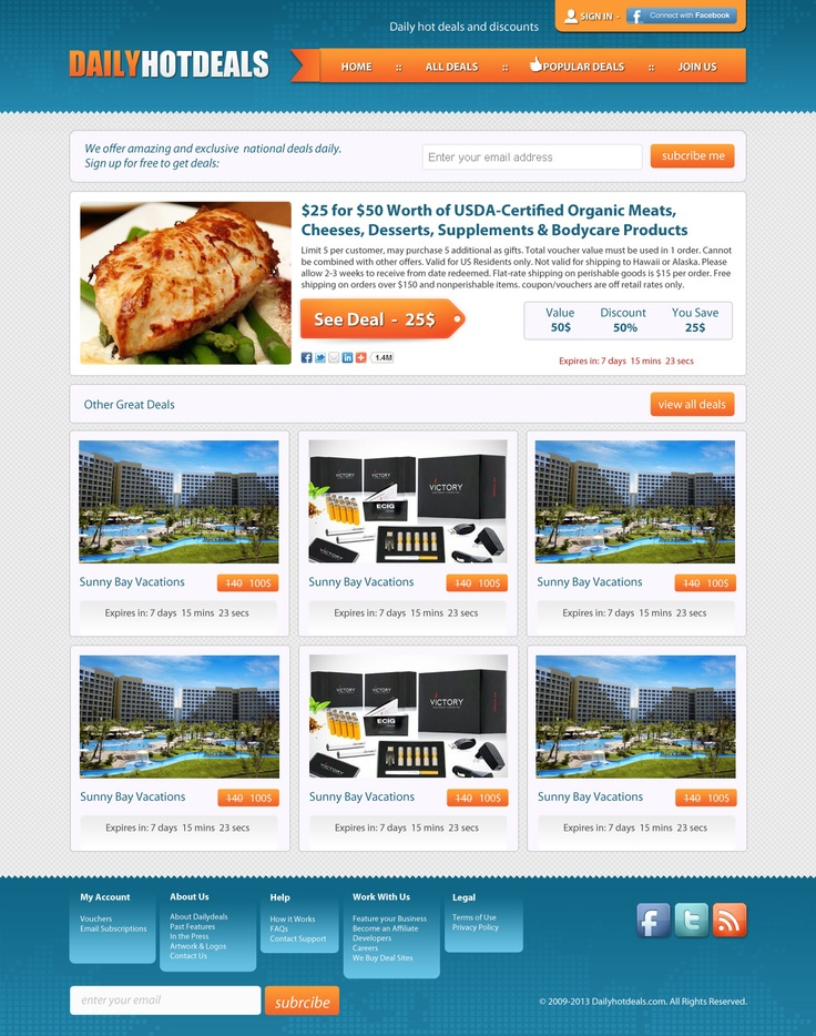 Daily deals website templates - Cheap all inclusive late deals
