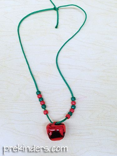 Make a Jingle Bell Necklace - pinned by @PediaStaff – Please Visit ht.ly/63sNt for all our pediatric therapy pins