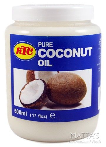 Pure Coconut Oil! Love it, use it on my hair for repair and growth. Buy it from an Asian food shop its SO much cheaper than a health food shop!
