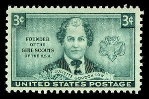 On October 29, 1948, a postage stamp was issued to honor Juliette Gordon Low, the founder of the Girl Scouts organization. Juliette Daisy Gordon Low was born into a prominent Savannah, Georgia family in 1860.October 29, Honor Juliette, Georgia Families, Girl Scouts, Gordon Low, Juliette Daisies, Girls Scouts, Savannah Georgia, Postage Stamps