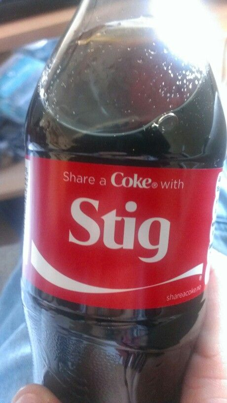 Share a coke with the stig!