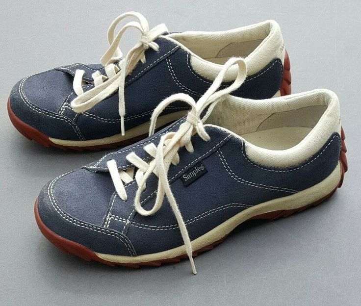 Simple Brand Comfort Shoes Old School Tennis Walking Womens Suede Trainers US 6 #Simple #Tennis