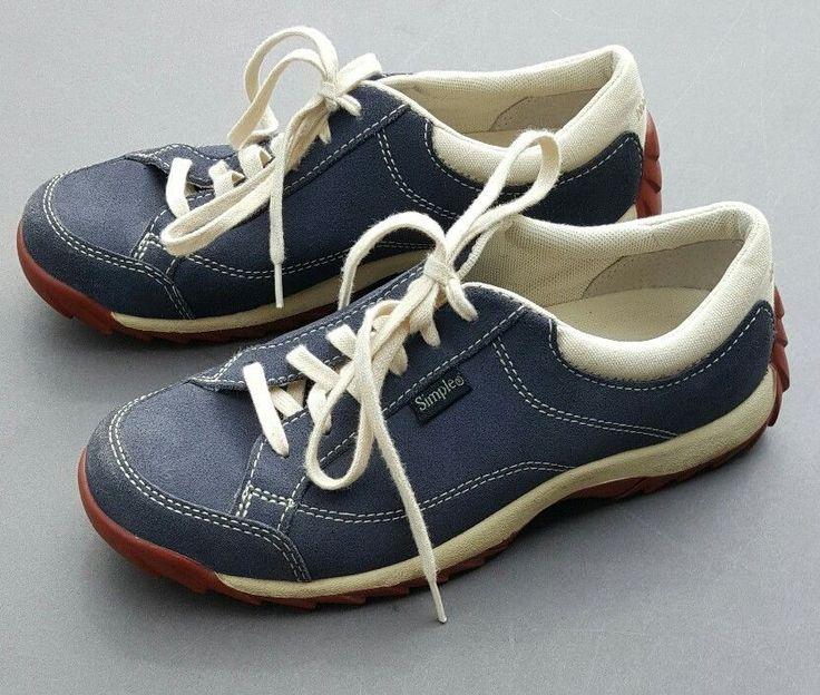 Simple Brand Comfort Shoes Old School Tennis Walking Womens Suede Trainers US 6 #Simple #Tennis