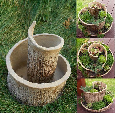 Tonfiguren, Keramik Töpfern, Hauswurz, Basteln, Ideen, Platte Keramik,  Keramik Keramik, Keramik Ideen, Keramik Blumen