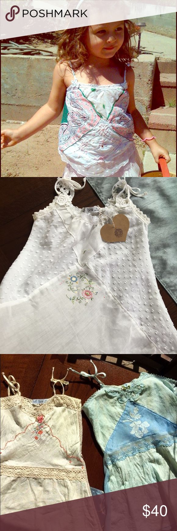 Girls Tank Tops Vintage inspired Bo ho chic for little girls! A unique tank blouse that pairs with tulle skirts or jeans. Bella Notte Due Shirts & Tops Tank Tops
