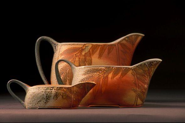 "Cathi Jefferson  |  Gravy boats in a ""Leaf"" design."