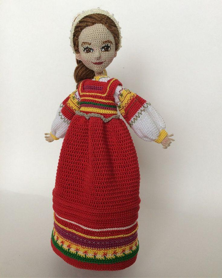 вязаные национальные куклы фото
