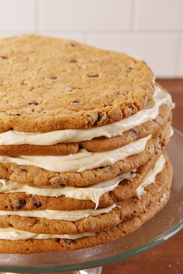 You Need To Watch The Making Of This Chocolate Chip Cookie Layer Cake  - Delish.com