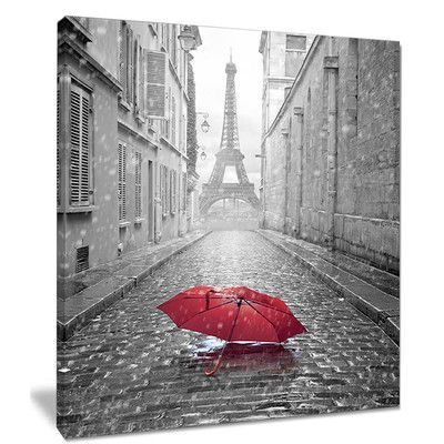 Design Art Cityscape 'Eiffel View from Paris Street' Photograph