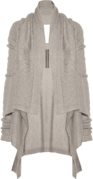 Rick Owens Draped Mohair and Silkblend CardiganFashion, Clothing, Drapes Mohair, Beige Drapes, Silkblend Cardigans Cozy, Comfy Cozy, Rick Owens, Knits, Owens Drapes