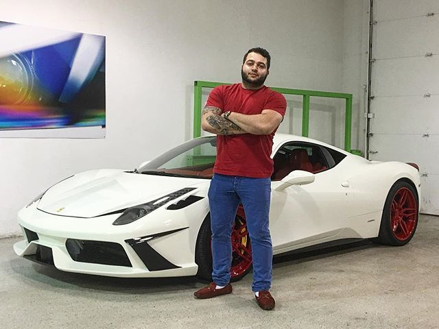 We first met @joeygeagea at 20 years old when he came to buy his first car. He told me his business was taking off and that he will be back in 2 years for a 458. Well .... It's 2 years later and now at 22 years old, Joe just picked up his first Ferrari! This Tricked Out 2014 458 italia Congrats young brother and enjoy!! #VehicleDirect