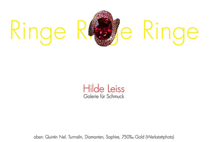 Rings. Rings. Rings Exhibition  /  21 Apr 2015  -  16 May 2015 Hilde Leiss Galerie für Schmuck, Hamburg (DE) - Rings, Rings, Rings  is the name of the spring exhibition in Hilde Leiss Galerie. 20 goldsmiths will present variations on an age old theme: the finger ring, arguably humankind's oldest and most symbollically fraught genre of jewelry, from traditional goldsmith's work to highly experimental objects