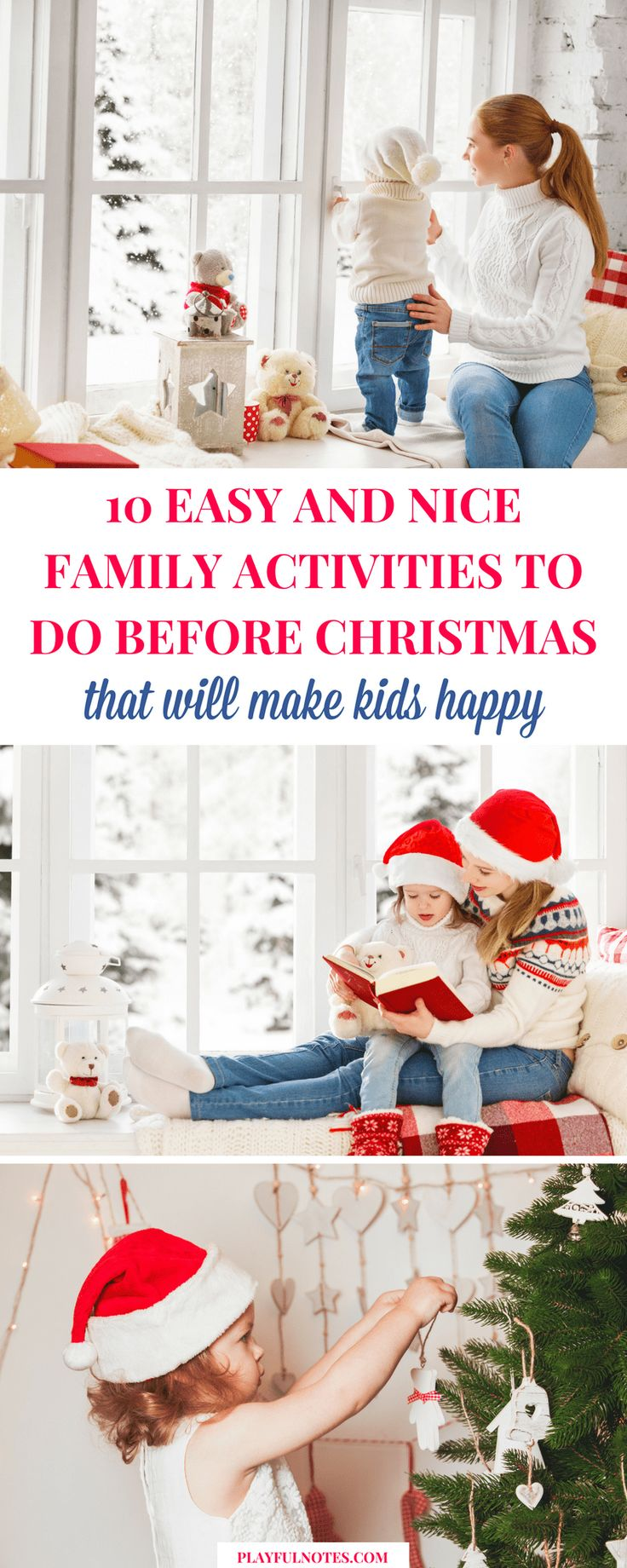 Christmas family activities: If you want to create lovely moments to enjoy with your family during the holiday season, here is a list of easy and nice ideas you can try with your kids! | Christmas - Things to do for kids | Meaningful Christmas Time #ChristmasForKids