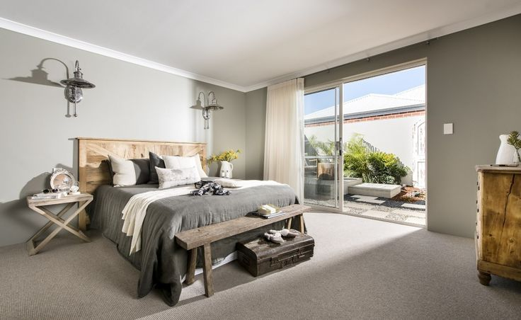 Central master suite with sliding door to create your own private retreat