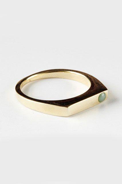 30 Dream Engagement Rings For The Anti-Diamond Girl #refinery29  http://www.refinery29.com/engagement-rings-diamond-alternatives#slide4
