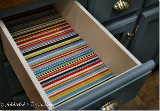 How To Line Drawers With Fabric - Addicted 2 Decorating®