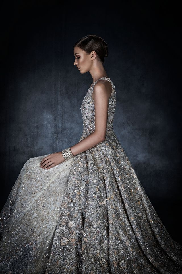 Swarovski Sparkling Couture // A Swarovski-decorated ethnic gown by Pakistani designer Tena Durrani