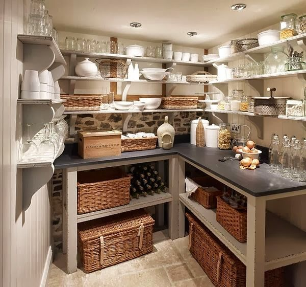 The Enchanted Home: Basements that you will never ever want to leave.........I love this idea of extra kitchen storage