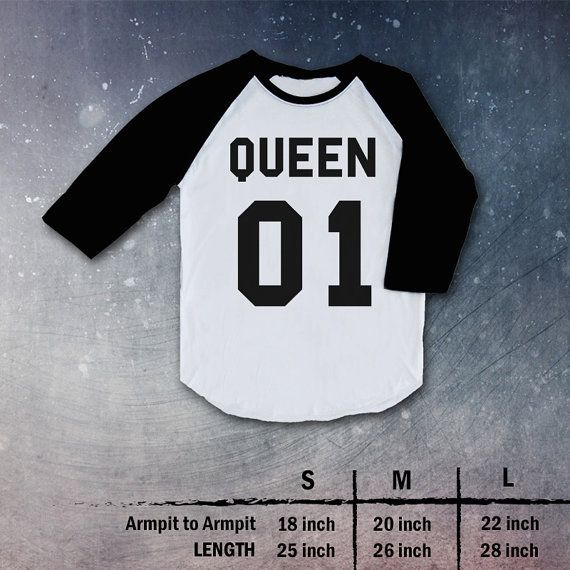 king 01 queen 01 Shirt tee clothing couple love Top Raglan christmas gift present