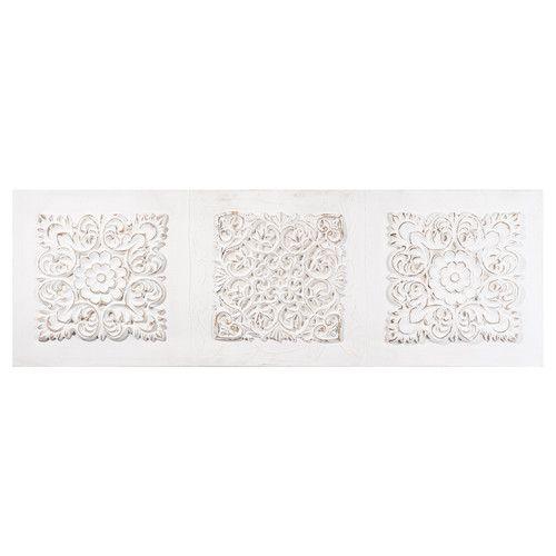 toile arabesque en polyr sine blanche 120 x 40 cm jaipur retty things pinterest canvases. Black Bedroom Furniture Sets. Home Design Ideas